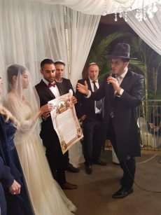 תמונה 2 של הרב אלירן זגורי-לטקס קצר שמח ומרגש :) - רבנים ועורכי טקסים